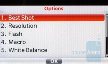 Camera interface - Casio G'zOne Brigade C741 Review