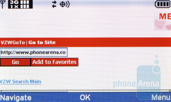 Internet browser - Casio G'zOne Brigade C741 Review