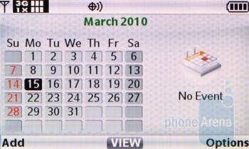 Calendar - Casio G'zOne Brigade C741 Review
