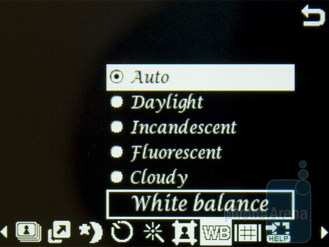 The camera interface of Samsung Diva folder S5150 - Samsung Diva folder S5150 Review