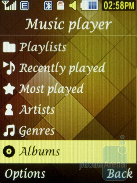 The Samsung Diva folder S5150 sports a good audio player - Samsung Diva folder S5150 Review