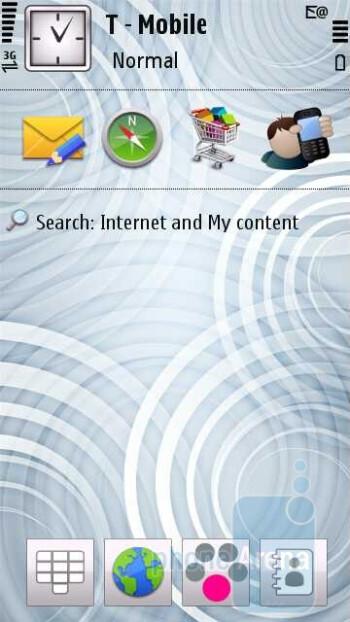 The homescreen of the Nokia Nuron 5230 - Nokia Nuron 5230 Review