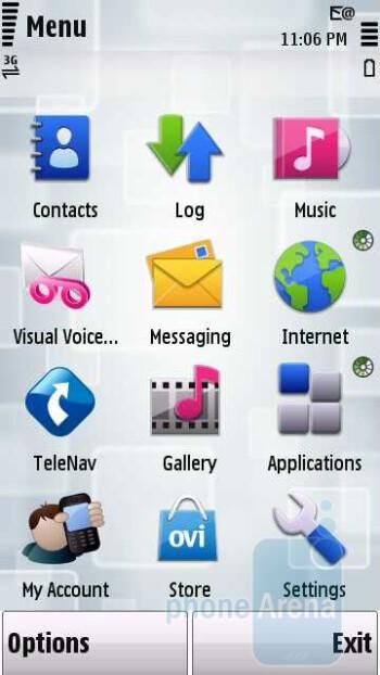 Main menu - Nokia Nuron 5230 Review