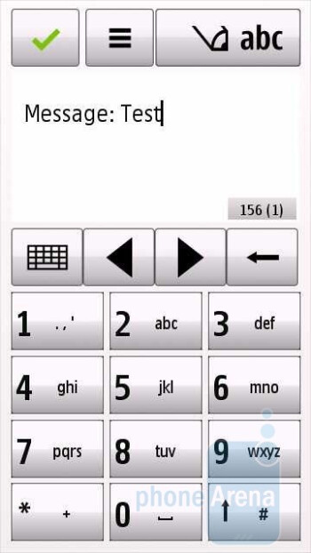 Numeric keypad - Messaging - Nokia Nuron 5230 Review