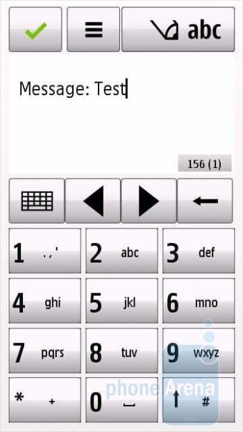 Numeric keypad - Messaging - Nokia Nuron 5230 Review
