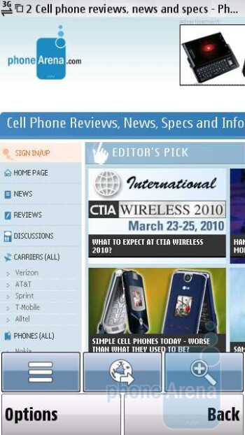 Surfing the internet - Nokia Nuron 5230 Review