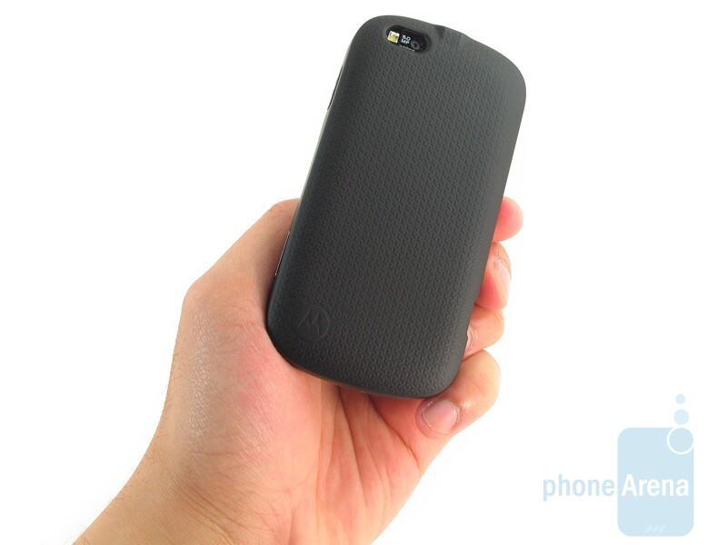 The candybar design makes the Motorola CLIQ XT feel solidly built all around - Motorola CLIQ XT Review