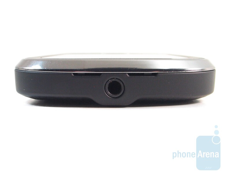 The 3.5mm port is on the top - The sides of the Motorola CLIQ XT - Motorola CLIQ XT Review