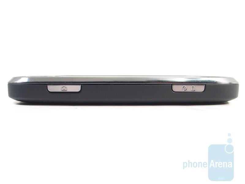 The sides of the Motorola CLIQ XT - Motorola CLIQ XT Review