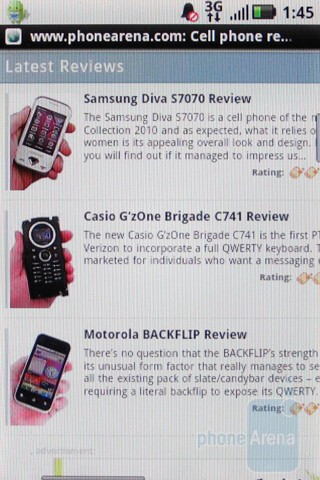 Web browsing with the Motorola CLIQ XT - Motorola CLIQ XT Review
