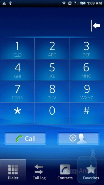 The phone book has been personalized by Sony Ericsson - Sony Ericsson Xperia X10 Review