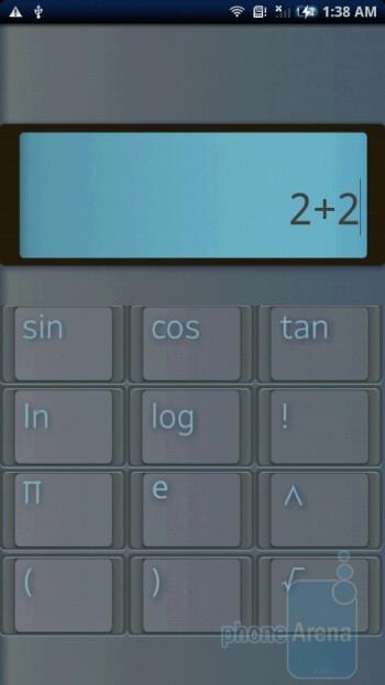 Calculator - Sony Ericsson Xperia X10 Review