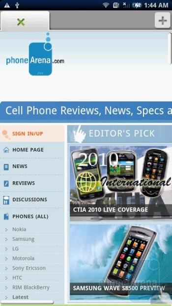 Dolphin - Sony Ericsson Xperia X10 Review