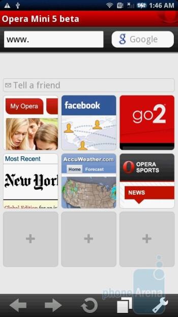 Opera Mini 5 beta - Sony Ericsson Xperia X10 Review