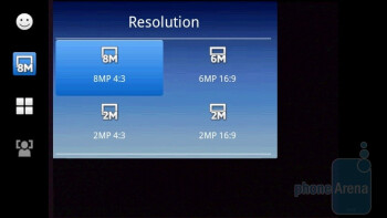 Camera interface - Sony Ericsson Xperia X10 Review