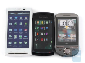 Placed between the Xperia X10and the HTC Tattoo - The Sony Ericsson Vivaz is entirely made from plastic that feels enjoyable to touch - Sony Ericsson Vivaz Review