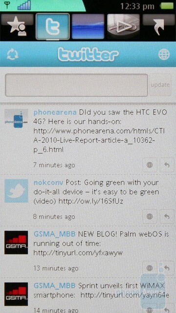 A Flash-based theme developed by Sony Ericsson divides the screen into five separate tabs - Sony Ericsson Vivaz Review