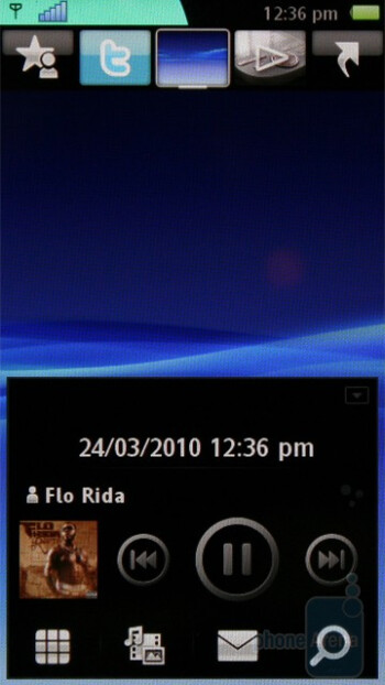Music player - Sony Ericsson Vivaz Review