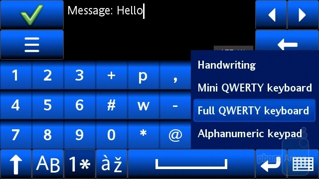 There are several text input methods that you can take advantage of - Sony Ericsson Vivaz Review
