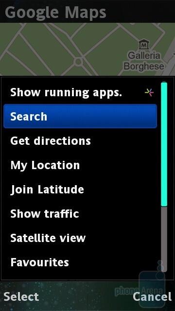 Google Maps - Sony Ericsson Vivaz Review