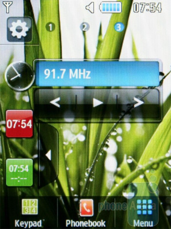 The home screen of the Samsung Ch@t B3410W - Samsung Ch@t B3410W Review