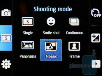 Camera interface - Samsung Ch@t B3410W Review