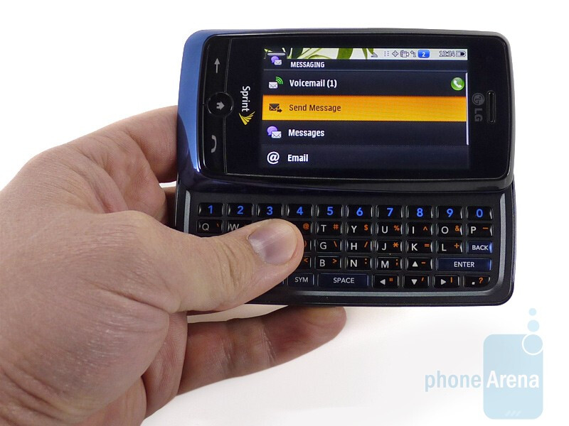 The LG Rumor Touch feels good in the hands - LG Rumor Touch Review