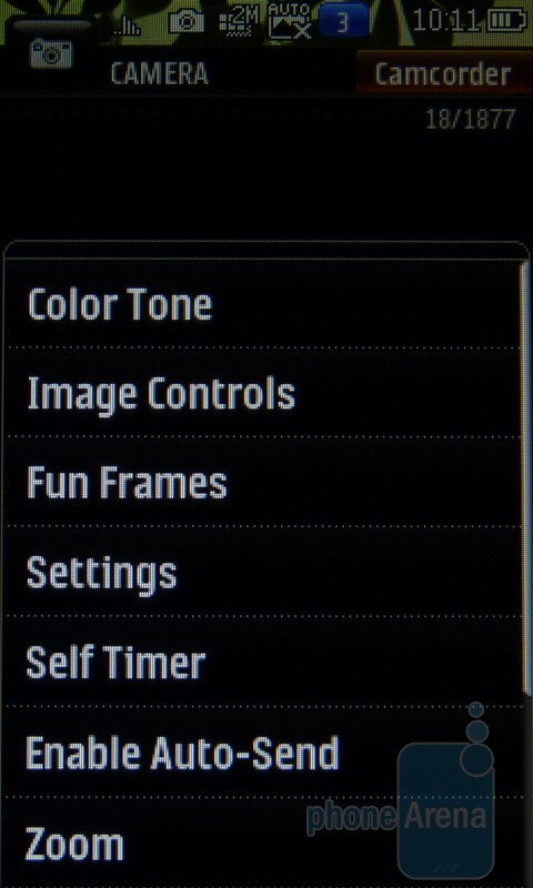 Camera interface - LG Rumor Touch Review