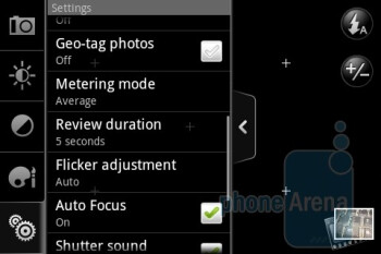 Camera interface - HTC Legend Review
