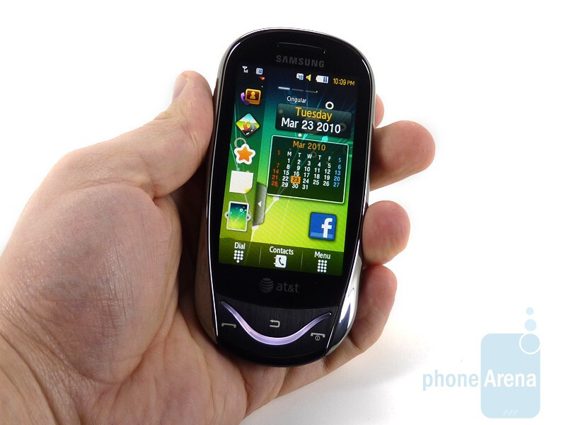 The Samsung Sunburst A697 is a small device that fits well in the hands - Samsung Sunburst A697 Review