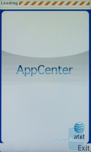 AT&T preloads its AppCenter portal - Samsung Sunburst A697 Review