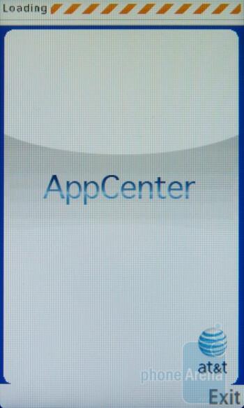 AT&T preloads its AppCenter portal - Samsung Sunburst A697 Review