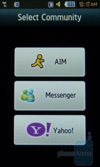Messaging - Samsung Sunburst A697 Review