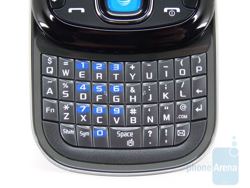 The full QWERTY keyboard of the Samsung Strive - Samsung Strive A687 Review