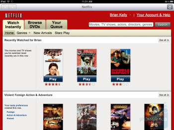 Netflix - ABC Player - Apple iPad Review