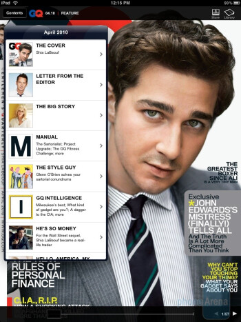 Magazine and newspaper content - Apple iPad Review