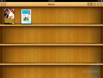 You have a bookshelf to store your titles on - Apple iPad Review