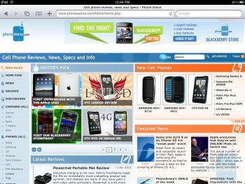 Web browsing with Mobile Safari - Apple iPad Review