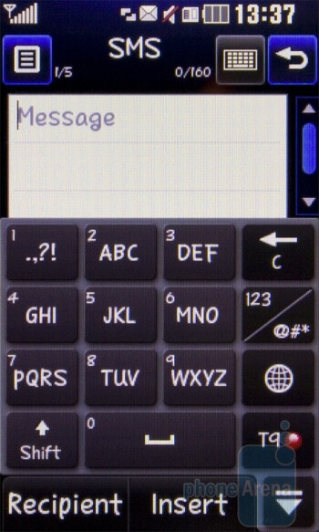 Portrait and landscape QWERTY keyboards - LG Cookie Fresh GS290 Review