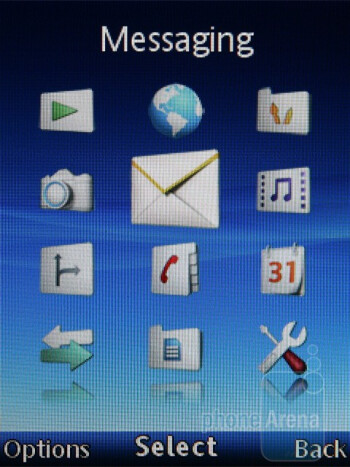 Main menu - Sony Ericsson Elm Review