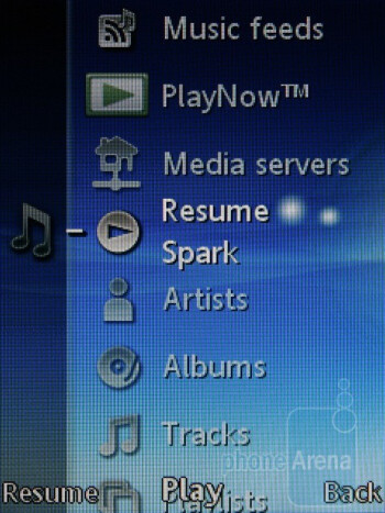 Music player - Sony Ericsson Elm Review