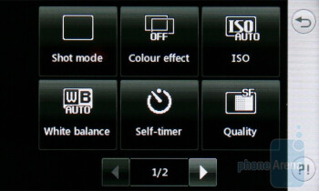 Camera interface - LG Cookie Gig KM570 Review