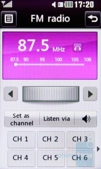 The music features - LG Cookie Gig KM570 Review