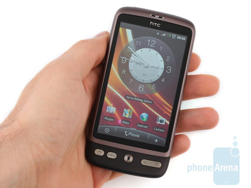 The only metal part of its bodyis the framing around the screen - The HTC Desire belongs to the category of the best-made Android handsets to date - HTC Desire Review