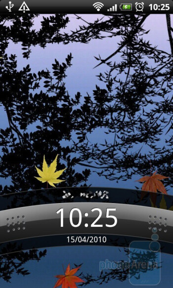 The home screen of the HTC Desire - HTC Desire Review