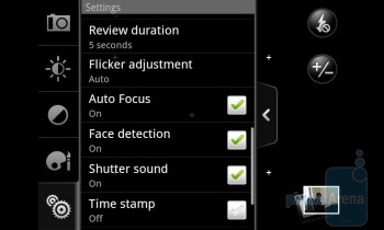 Camera interface - HTC Desire Review