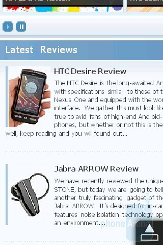 Opera Mobile - HTC HD mini Review