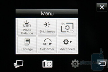 The camera interface - HTC HD mini Review