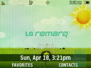 The interface of the LG Remarq LN240 - Phonebook - LG Remarq LN240 Review