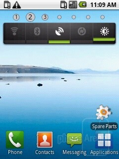 The home screen of the Samsung Galaxy 5 I5500 - Samsung Galaxy 5 I5500 Preview